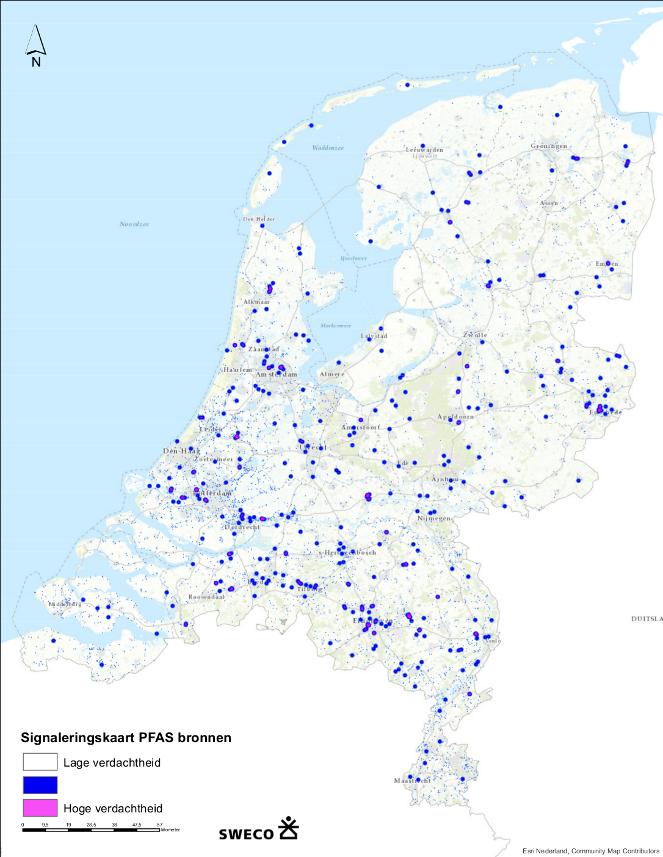 PFAS kaart Sweco